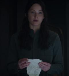 Katniss con su lista de condiciones