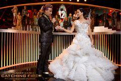 Caesar y Katniss en la entrevista
