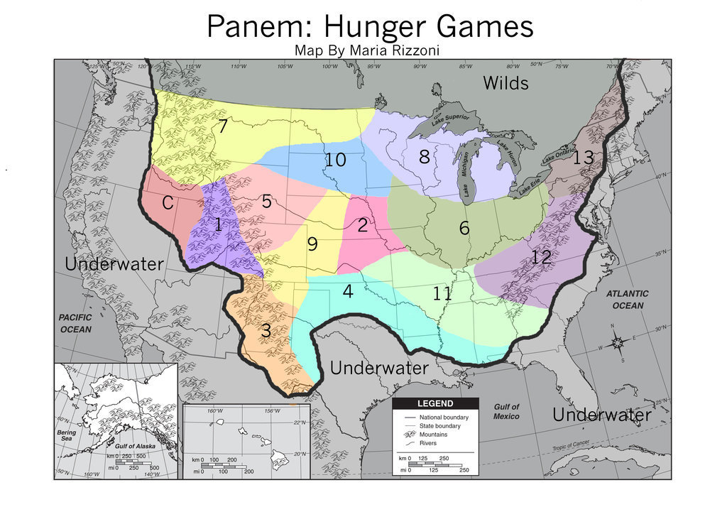 Image Panem Map Jpg The Hunger Games Wiki FANDOM Powered - Hunger games us map