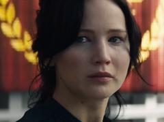 Katniss llorando en la cosecha