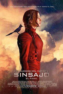 Póster de Katniss con un sinsajo