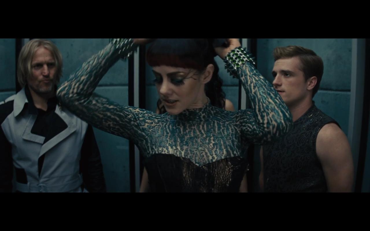 Katniss Opening Ceremony Costume Cinna Instructs Katniss On Her