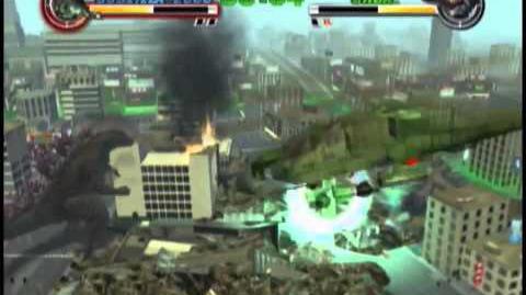 Godzilla Destroy All Monsters Melee (Xbox) - Godzilla 2000 vs Orga