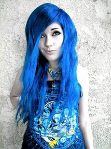 Leda blue hair by ledamonsterbunnylove-d58xi4y