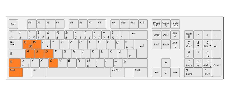 Tastatur Bewegen