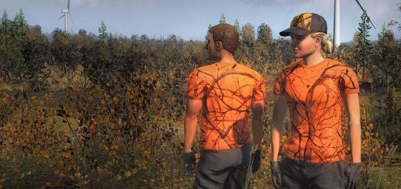 Kleidung orange