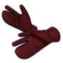 Arctic gloves red