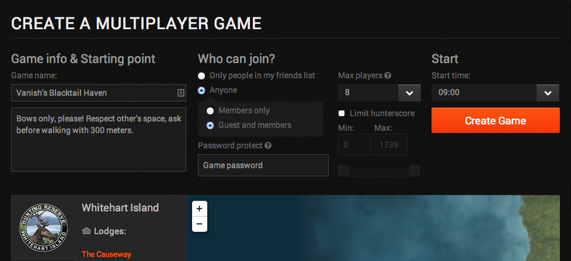 Multiplayer Host Options