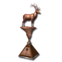 Trophy elk bronze