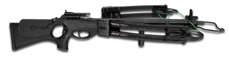 Reverse draw crossbow black