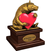 Valentine 2015 BlackBear Trophy Gold