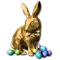 Easter 2016 Bunny Gold