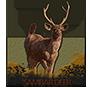 Sambar deer badge