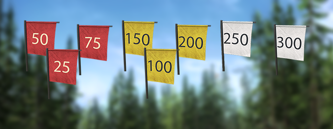 Deployable marker flags
