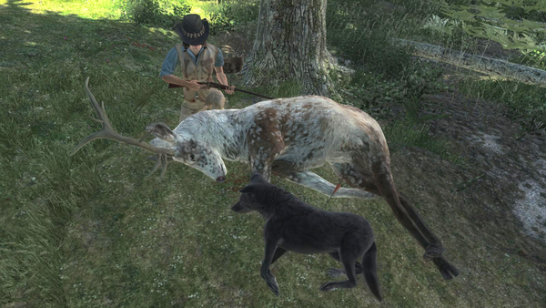 Coolfirell piebald elk melanistic coyote