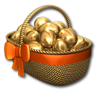 Easter basket gold