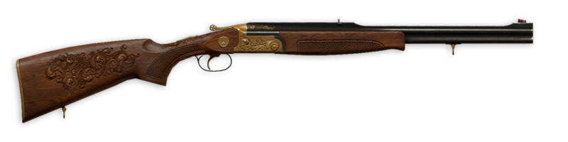 30r break action rifle engraved