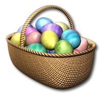 Easter basket festive