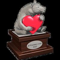 Valentine 2015 BlackBear Trophy Plaster