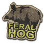 Feral hog badge