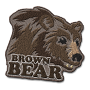 Brown bear badge