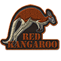 Red kangaroo badge