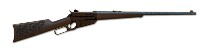 Lever action rifle 405 engraved