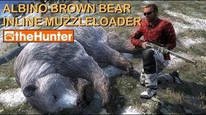TheHunter Hunting Game - Albino Brown Bear with Inline Muzzleloader