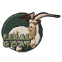 Feral goat badge
