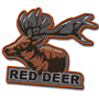 Red deer badge