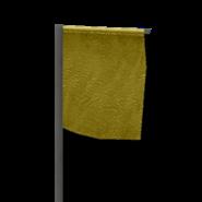 Marker flag yellow