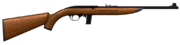 Semi auto rifle 22 wood