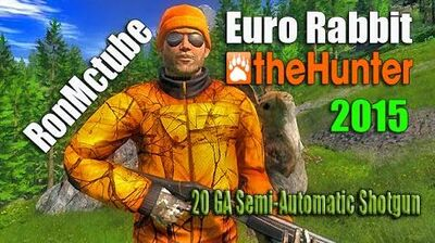 TheHunter European Rabbit & 20 GA Semi-Automatic Shotgun Carbon ED