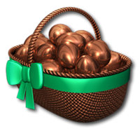 Easter basket bronze