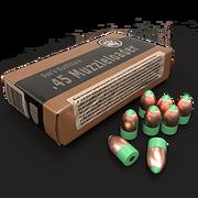 45 copper bullet