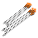 Arrows recurve tracer orange 256