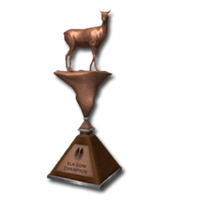 Trophy elk cow bronze