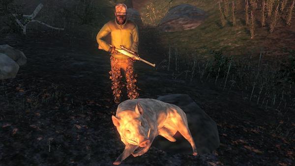 Ramonvicf albino feral hog 1115