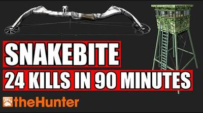 TheHunter Snakebite Power from the Tower - 24 Kills in 90 Minutes