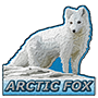 Arctic fox badge