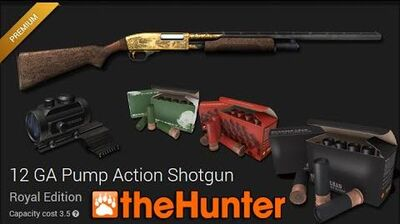 TheHunter 12 GA Pump Action Shotgun Royal Edition (gold)