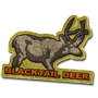 Blacktail deer badge