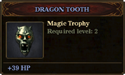Trophy dragon tooth
