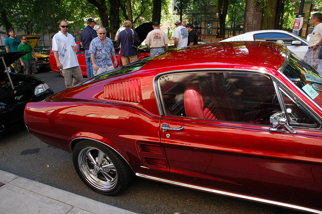 Red 1967 Ford Mustang Fastback