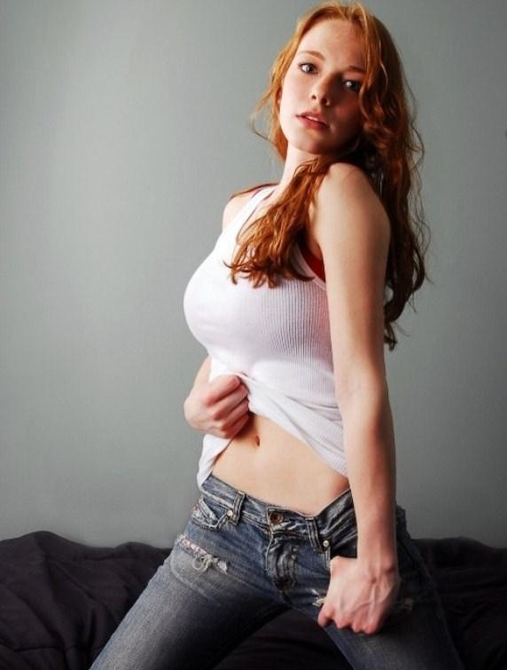 Plump busty british redhead