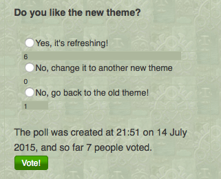 Poll 4 - Do you like the new theme?