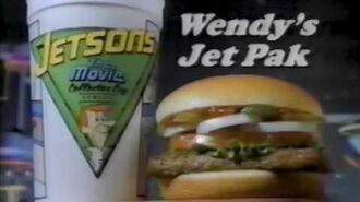 Wendy's The Jetsons Jet Pak Commercial 1990