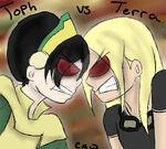 Toph vs terra by tinaeatsmuffins-d5r004o