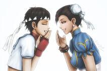 A sakura and chun li giggly conversation by kros2692-d4md9y9
