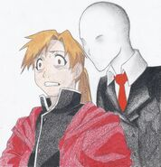 Slender and alphonse elric by rvovs-d5bvmtc